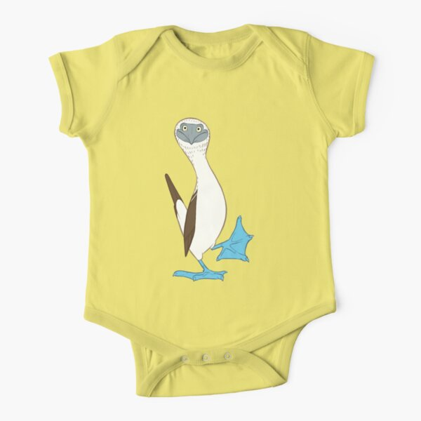 Blue-footed booby Short Sleeve Baby One-Piece