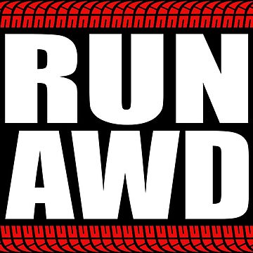 RUN AWD sticker by hoddynoddy