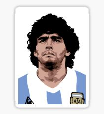 Maradona - best soccer player Sticker