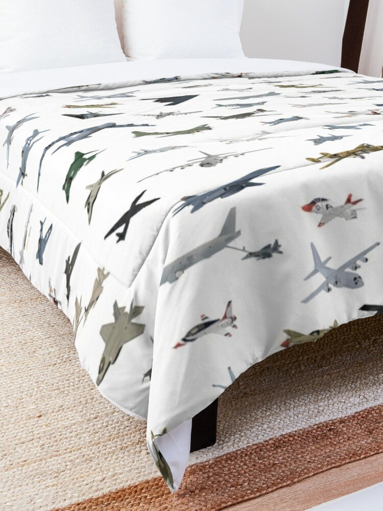 Alternate view of American Military Airplanes Comforter