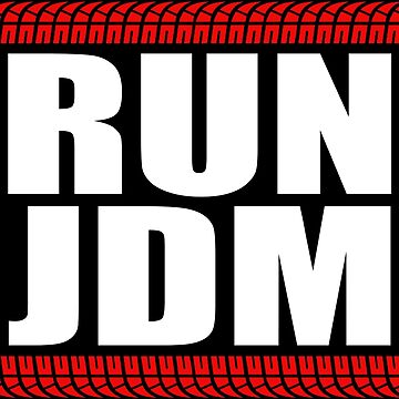 RUN JDM sticker by hoddynoddy
