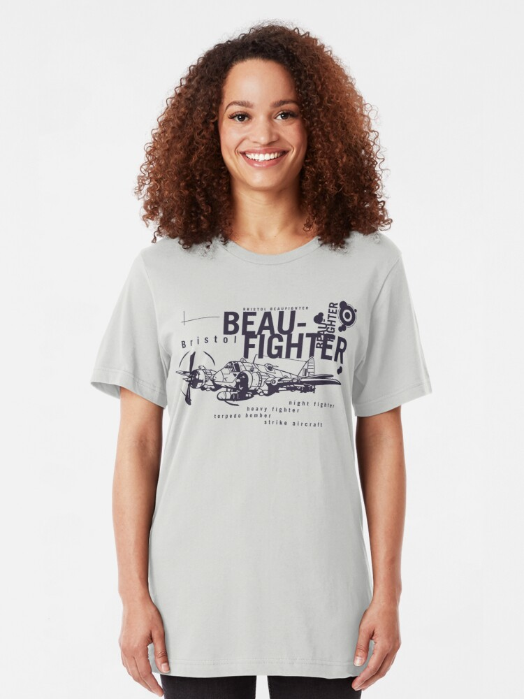 Alternate view of Bristol Beaufighter Slim Fit T-Shirt