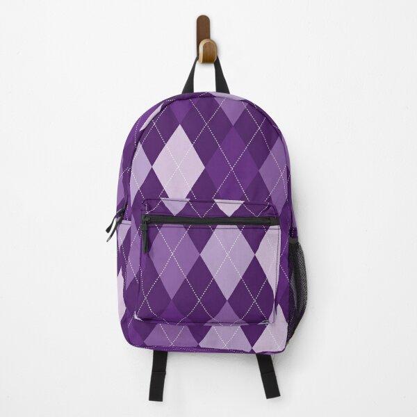 Purple Argyle Backpack