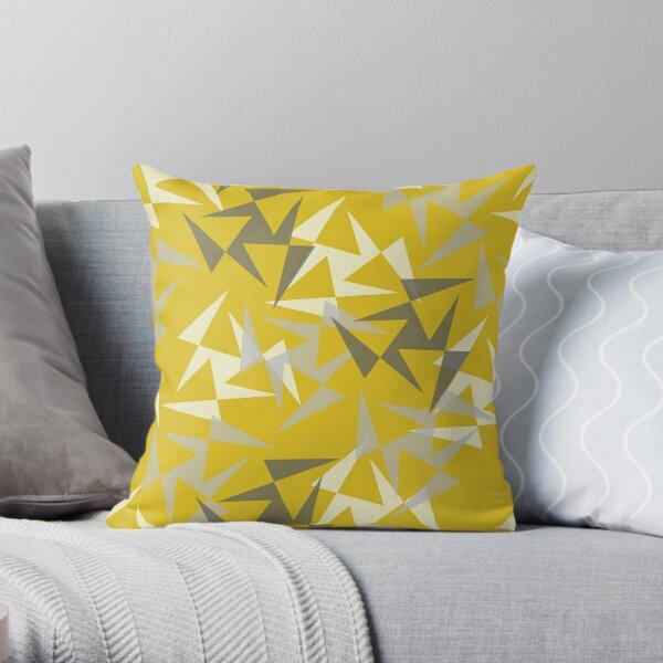 Geo Wheels - Mustard Throw Pillow