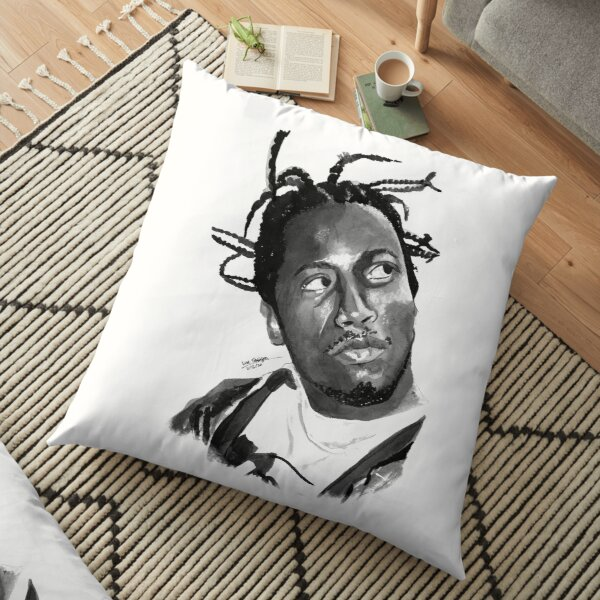 ODB - Ink portrait 2 Floor Pillow
