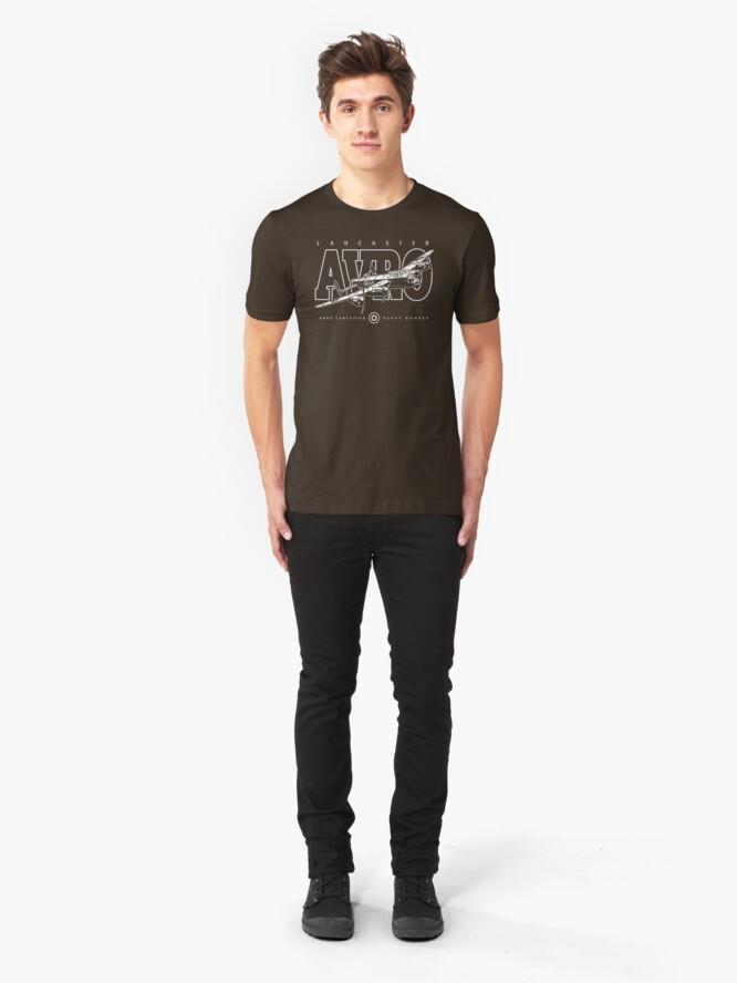 Alternate view of Lancaster Bomber Slim Fit T-Shirt