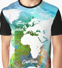 World map Adventure colors  Graphic T-Shirt