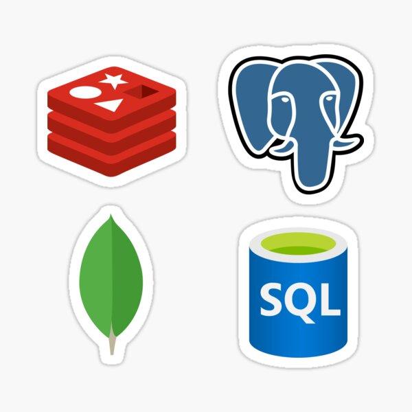 Database Admin Pack : MongoDB, Redis, SQL, PostgreSQL Sticker