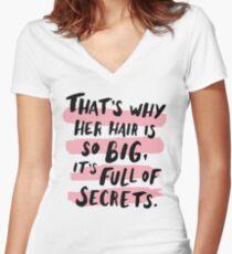 It's Full Of Secrets Women's Fitted V-Neck T-Shirt