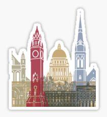 Belfast skyline poster Sticker