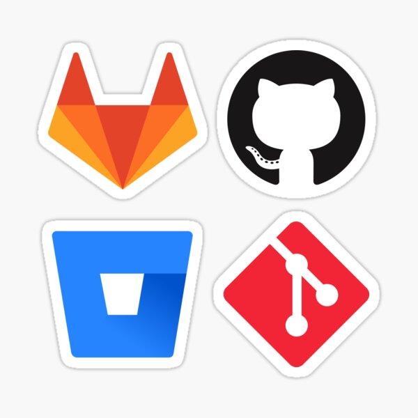 Source Control Pack : Gitlab, Github, Git, Bitbucket Sticker