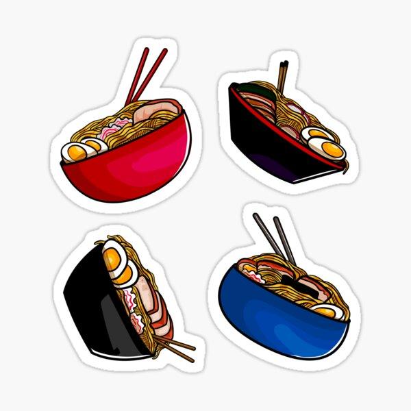 Ramen noodle soup pack. Ramen noodles pattern lover, gift idea Sticker