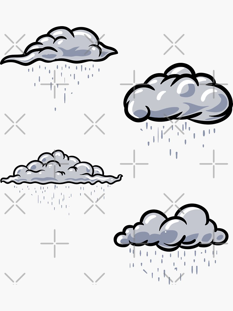 Rainy clouds pack. Clouds pattern lover, gift idea by CWartDesign