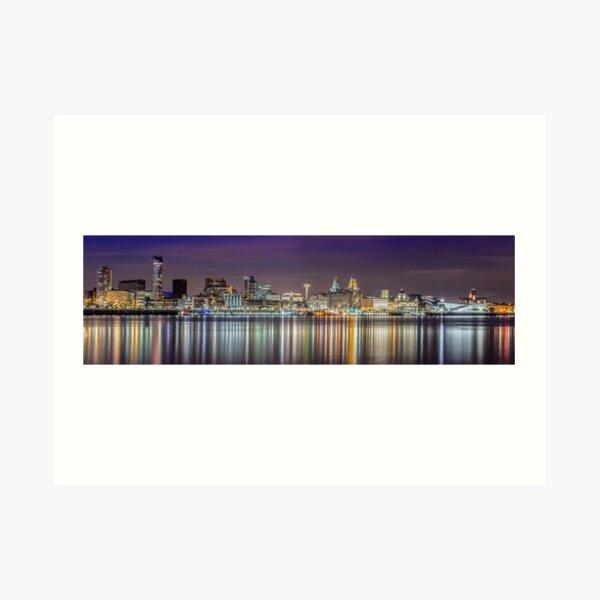 The Liverpool Waterfront Skyline Art Print