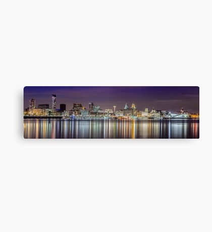 The Liverpool Waterfront Skyline Canvas Print