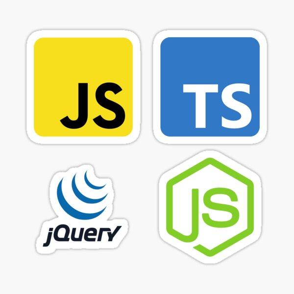 Javascript Ninja Pack : Javascript, Typescript, JQuery, NodeJs Sticker