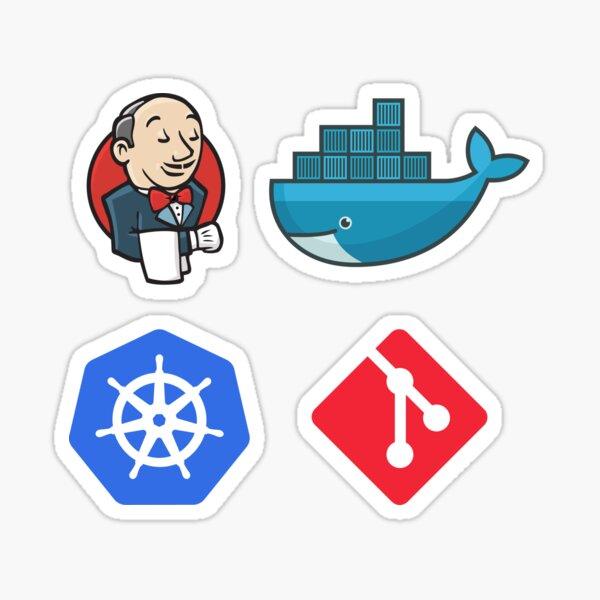 DevOps Pack : Git, Docker, Kubernetes, Jenkins Sticker
