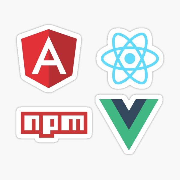 Frontend Developer Pack : Angular, ReactJs, NPM, Vuejs Sticker