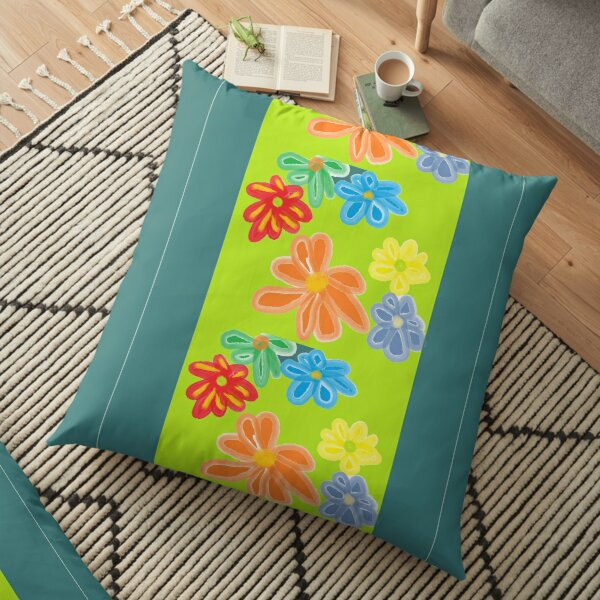 floral design for products Floor Pillow