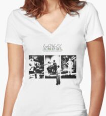 Genesis - The Lamb Lies Down on Broadway Fitted V-Neck T-Shirt