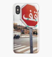 Stop Sign in Arabic iPhone Case/Skin