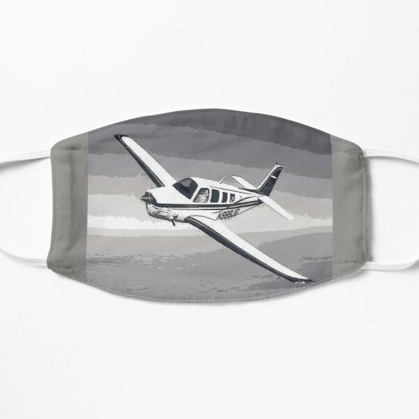 Vintage Beechcraft Bonanza Digital Art Mask