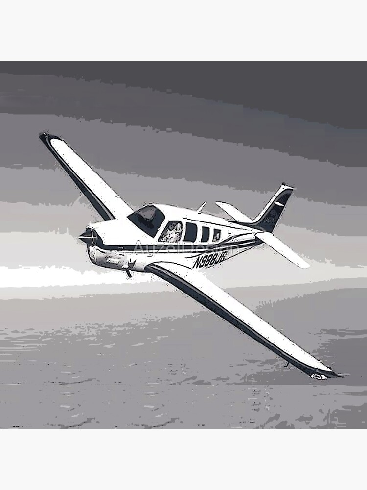 Vintage Beechcraft Bonanza Digital Art by AyzelDesign
