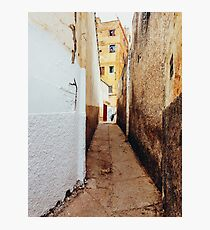 Alley in Residential Neighbourhood in Morocco Photographic Print