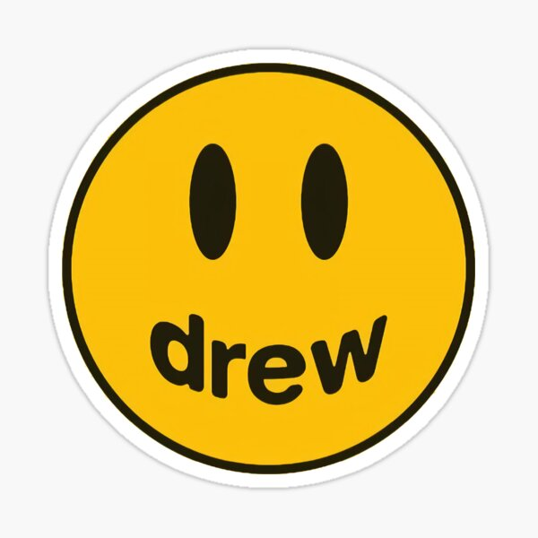 Smile Drew Yellow Sticker