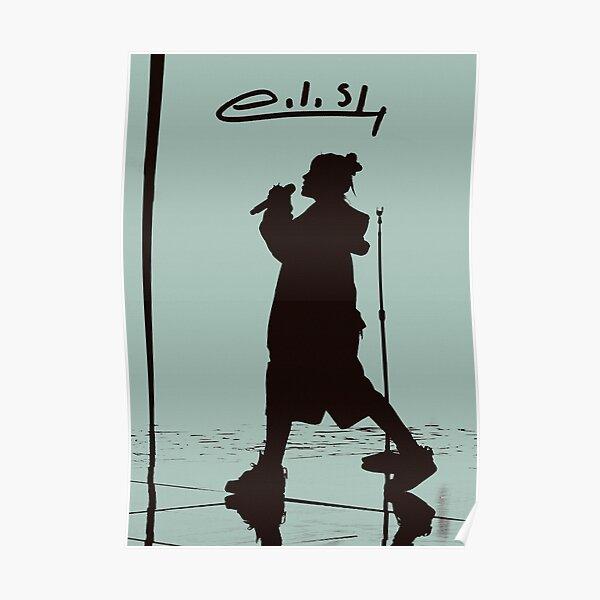 silhouette eilish Poster