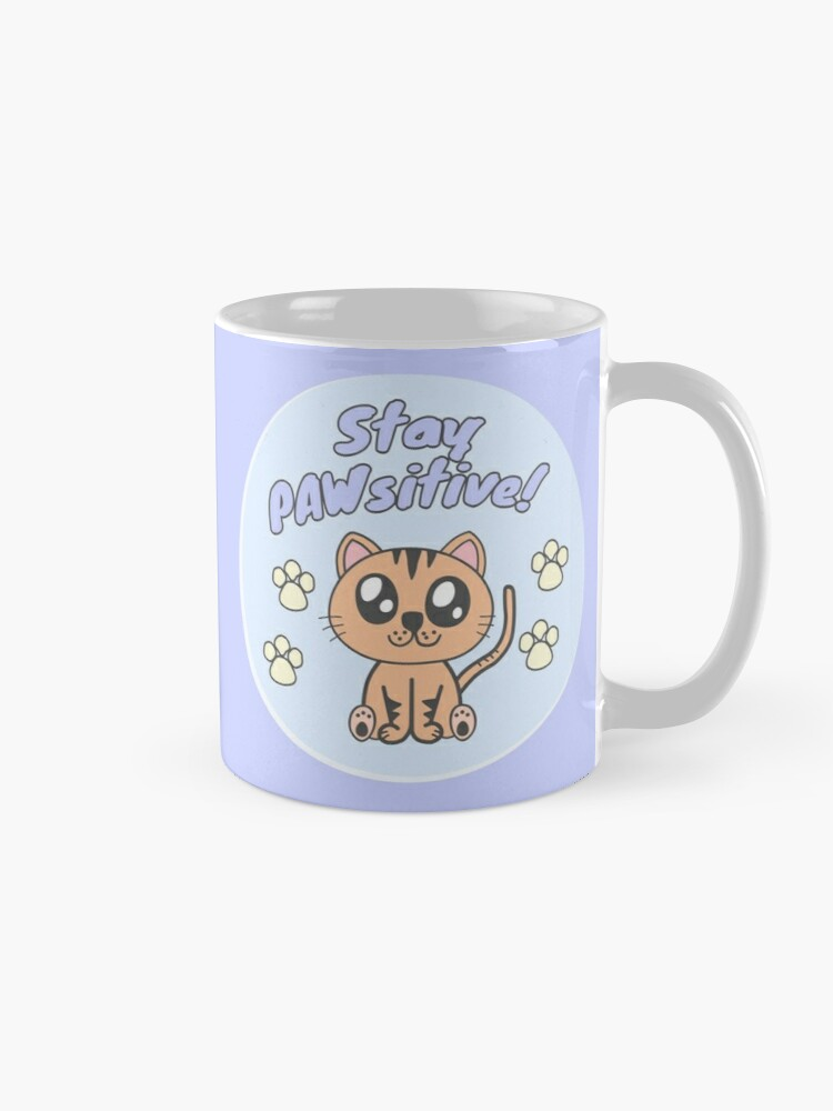 Alternate view of Stay positive Mug