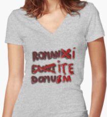 Romanus Eunt Domus Women's Fitted V-Neck T-Shirt