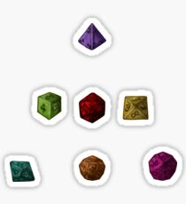 Colourful Polyhedron Dice Sticker
