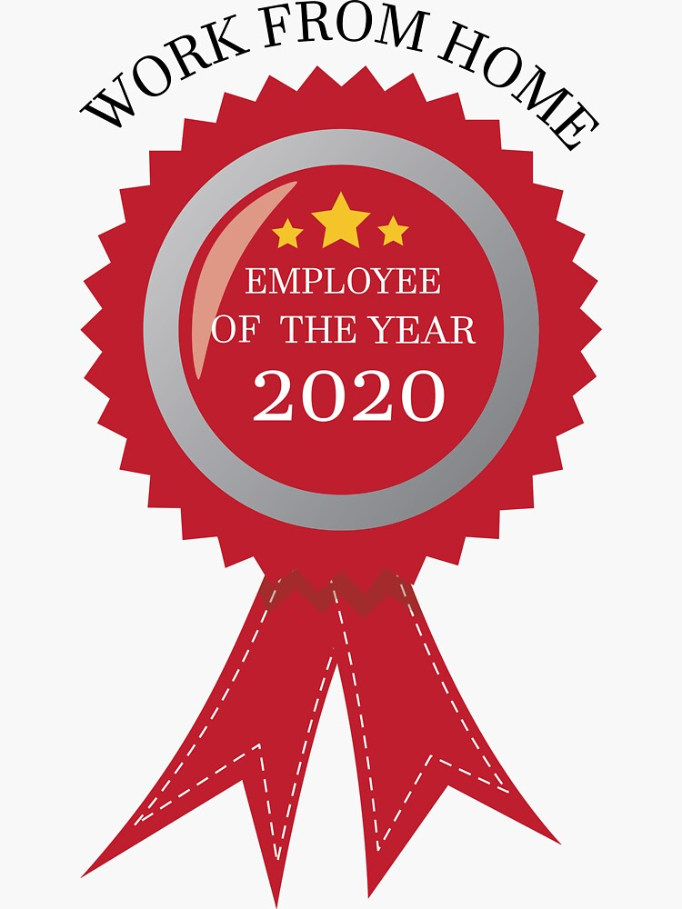 Work from home employee of the year 2020 award by kakapodesign