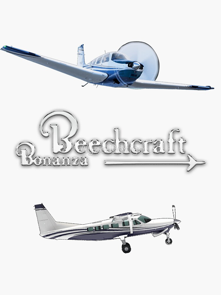 Color Sticker pack Sketch of Beechcraft Bonanza  by AyzelDesign