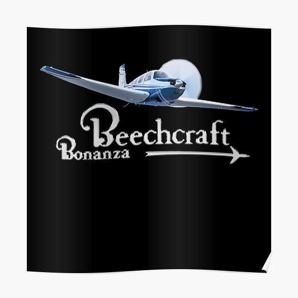 Beechcraft Bonanza Digital Art Poster