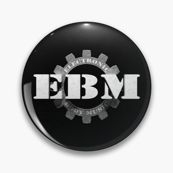 EBM Electronic Body Music Zahnrad Symbol 2 Button