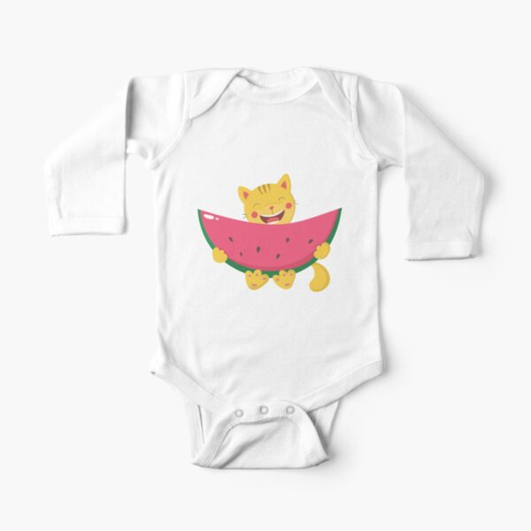 Funny cat Long Sleeve Baby One-Piece