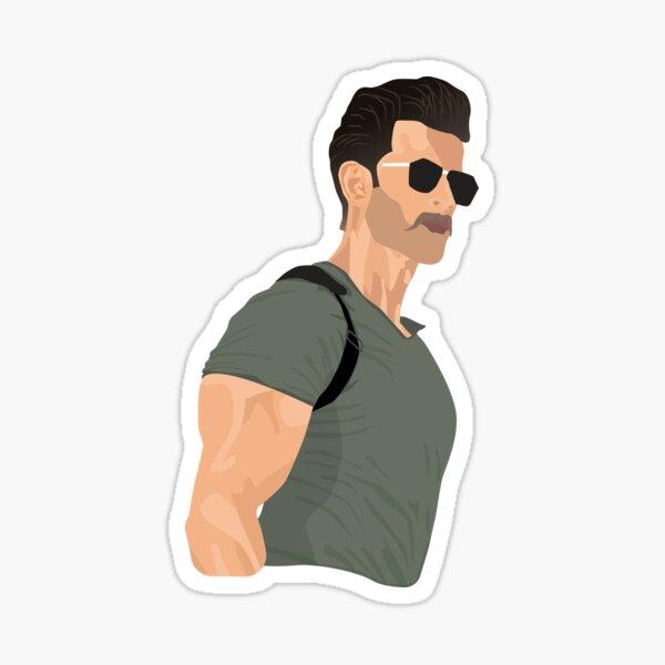 Hrithik Roshan War Sticker