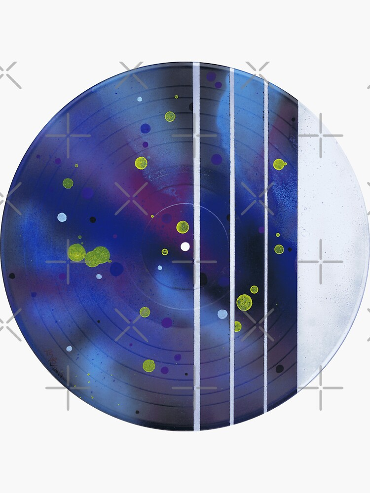 Space Spots & Stripes - Vinyl Record Art by that5280lady