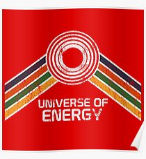 Universum der Energie-Logo in Vintage-Distressed-Stil Poster