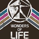 Wunder des Lebens Logo in Vintage Distressed Style von retrocot