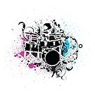 Funky Drummer Vector Illustration by doonidesigns