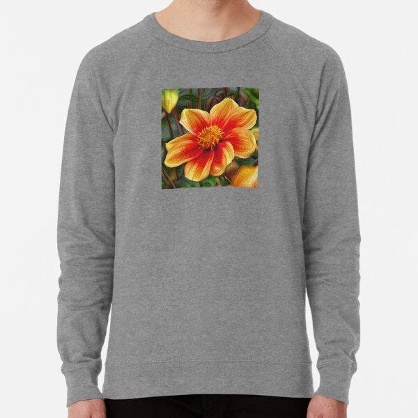 Orange Flower 001, DeepDream style Lightweight Sweatshirt