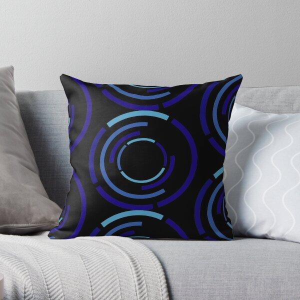 Circles Blue Throw Pillow