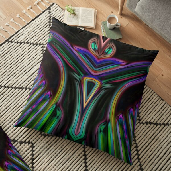 Neon Moth Hero Floor Pillow