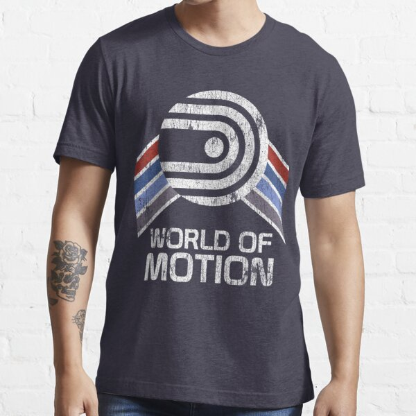 World of Motion Logo in Vintage Distressed Style Essential T-Shirt