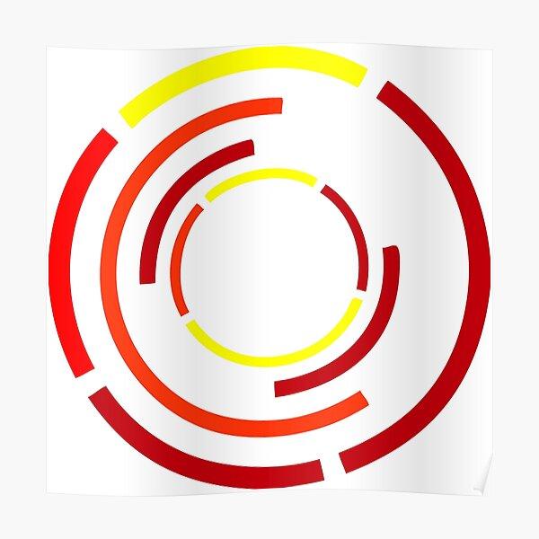 Circles Warm Poster