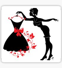 Pin up woman silhouette Sticker