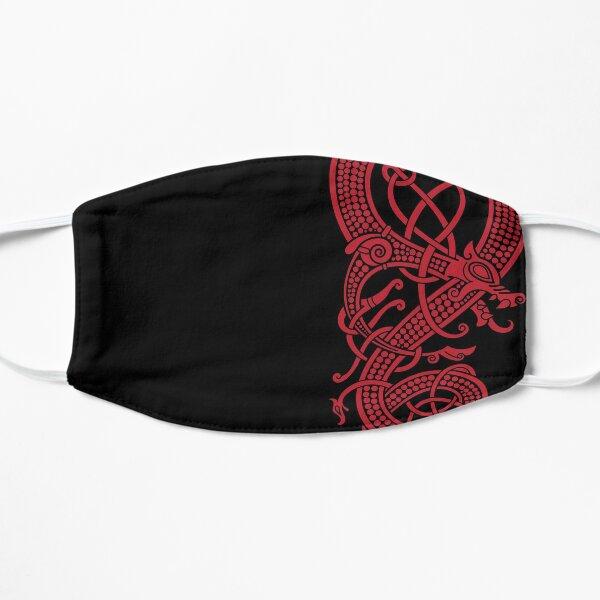 The viking dragon Fáfnir (red) Flat Mask